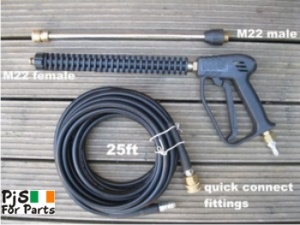 Pressure washer hose and lance set