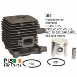 Stihl Cylinder kit for HS45,HS55,FS38,FS45,FS45C, FS45L,FS46,FS46C,FS55,FS55C,FS55R,FS55RC,FS55T and others